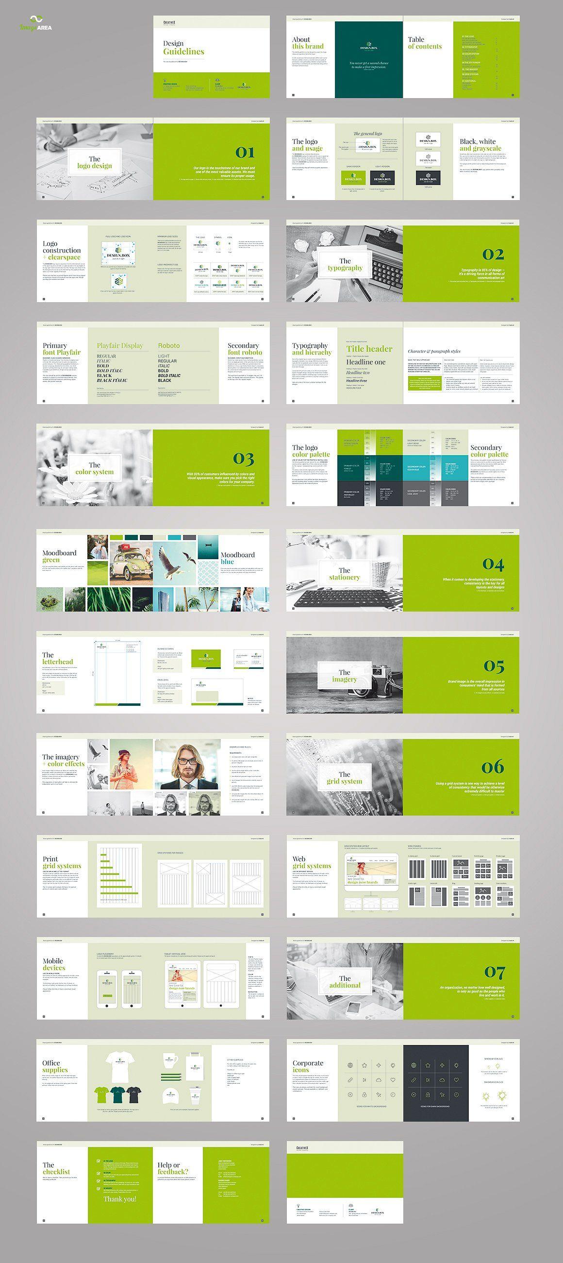 Landscape Brand Book Brand Book Booklet Layout Brochure Design Layout