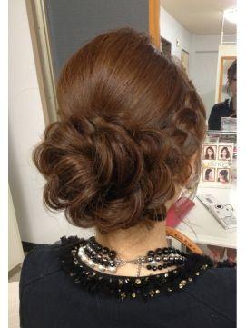結婚式の髪型 ヘアアレンジ アップスタイル