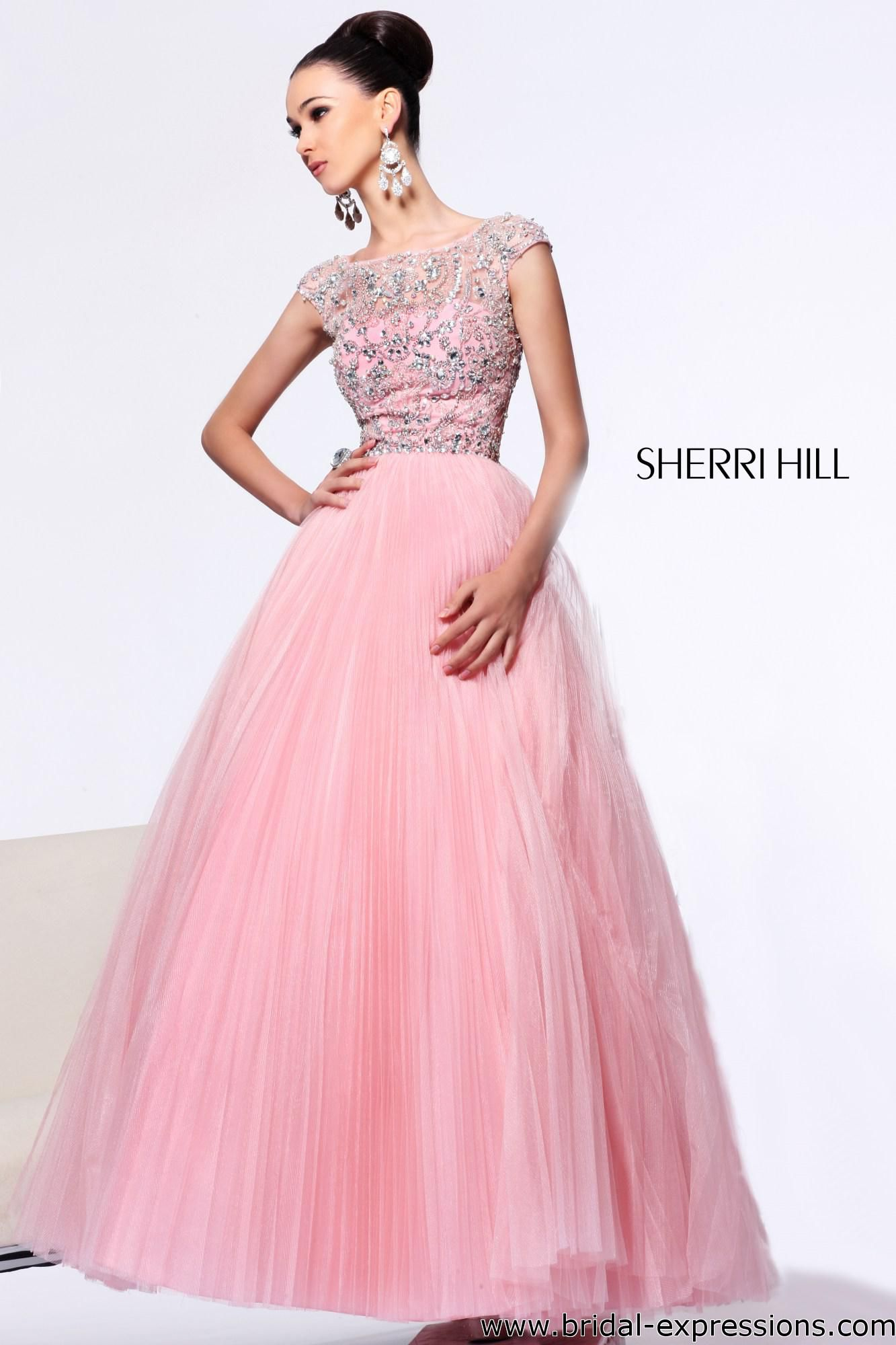 Sherri Hill 2984 Sheer Cap Sleeve Prom Dress | Random | Pinterest ...