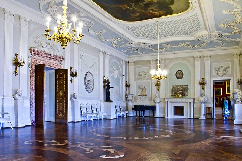 White Hall At The Grand Palace In Gatchina, Royal Estate South Of St  Petersburg,