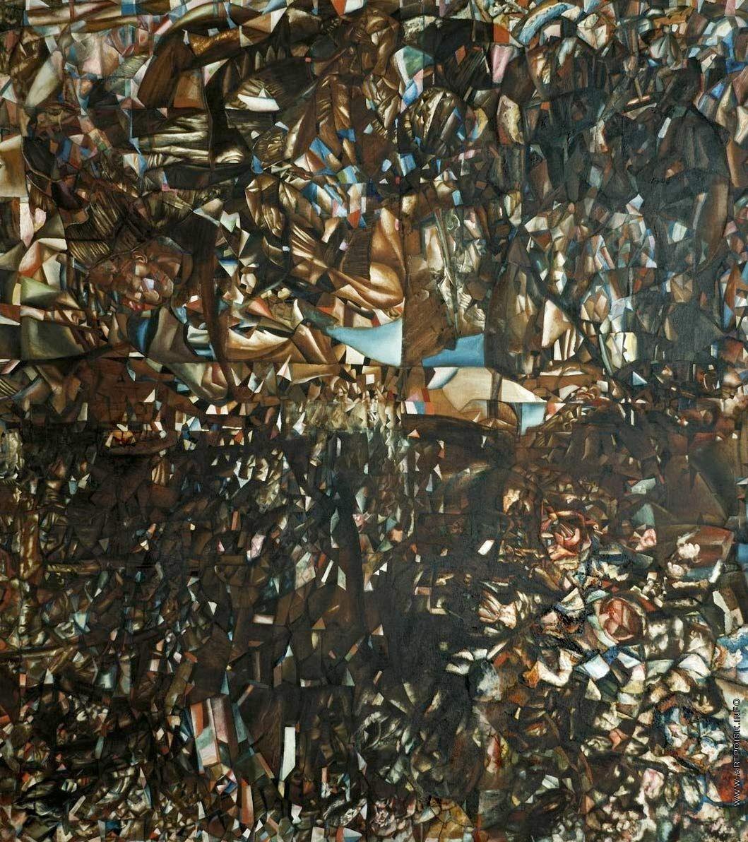 Филонов Павел Николаевич  Композиция. Ввод в Мировый расцвет 1914–1915 Холст, масло 172 х 156