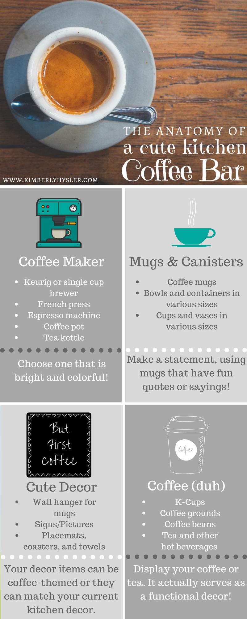 The Anatomy of a Cute Kitchen Coffee Bar | Kitchen coffee bars