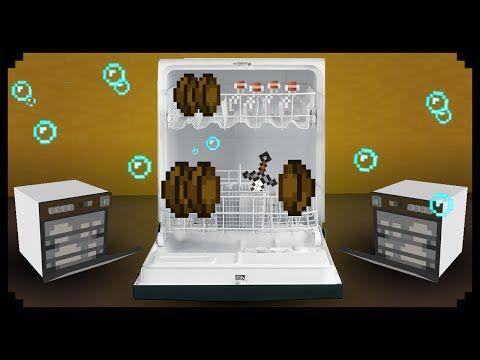 Minecraft How To Make A Dishwasher Magic Tricks For Kids Minecraft Tutorial Minecraft Room