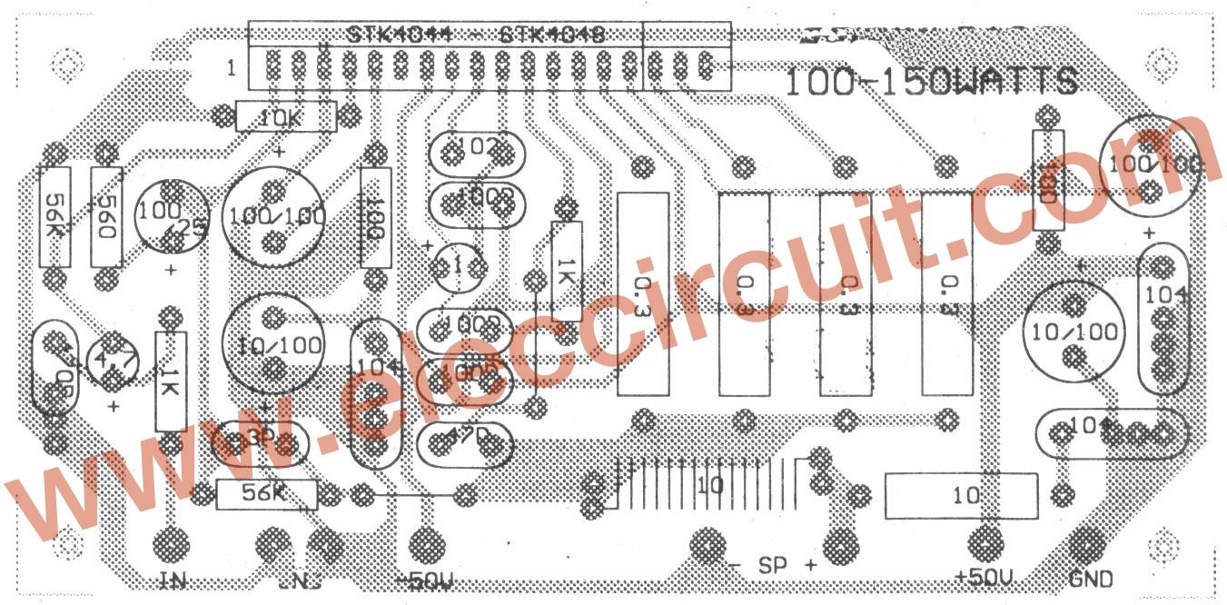 Poeject Audio Power Amplifier Circuit Tda7375 For Systems Surround 4 Tda7381 X 25w Quad The Components Layout Guitar Amp Music Guitars