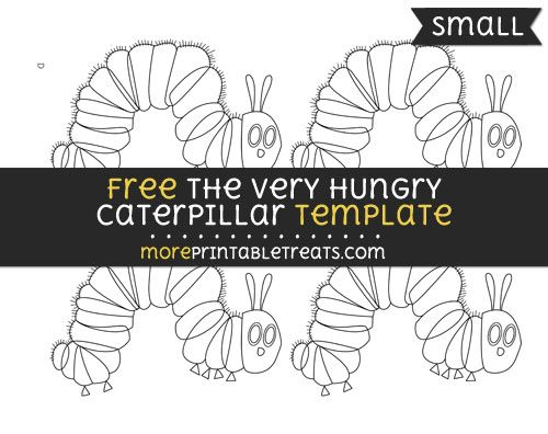 Free The Very Hungry Caterpillar Template - Small | Shapes and ...