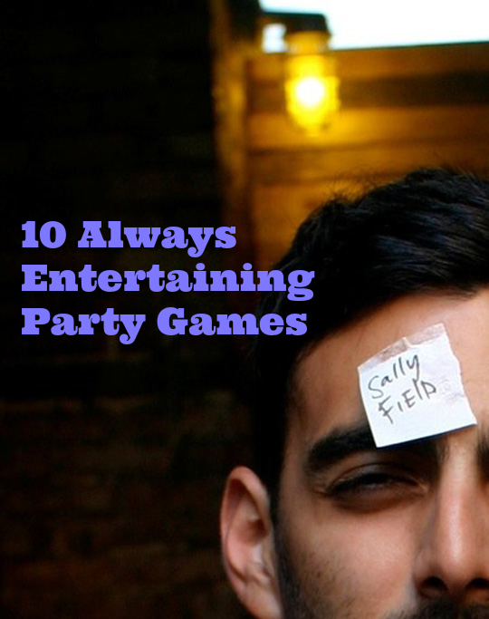 Here's a roundup of some of our favorite party games to help you keep your soirees lively and spirited, bring people together or help break the ice.