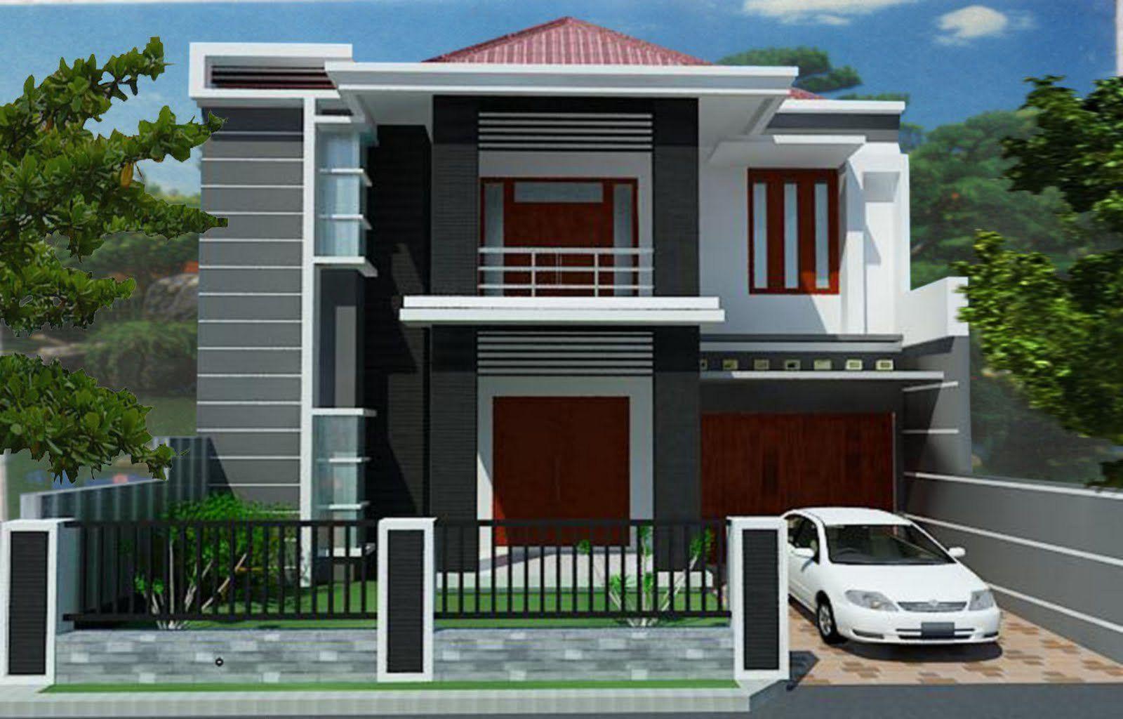 Download Desain Rumah 2 Lantai 100 Juta Keren Gratis House Balcony Design Two Storey House Design House Roof Design