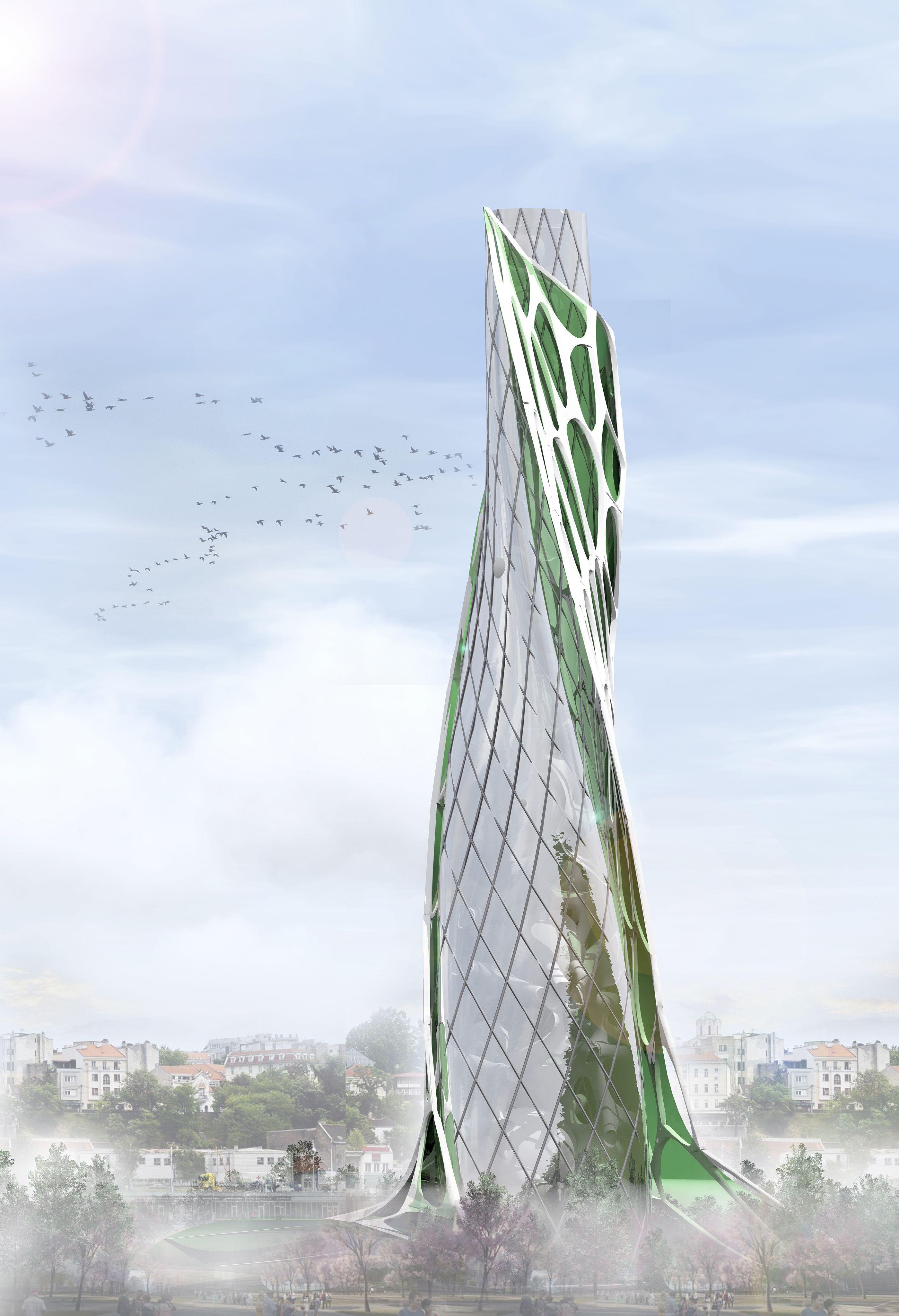 Algae Twisted Tower By Aleksandra Aleksić The Algae Twisted Tower Impressive Urban Complex Oackapon Salachai