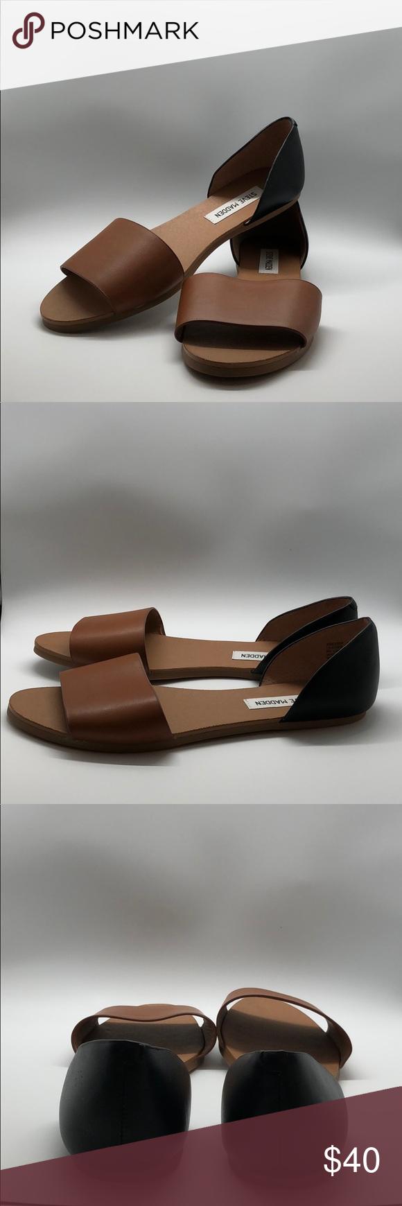 Steve Madden Sandals 9M Sidestep Banded Gorgeous EUC pair of