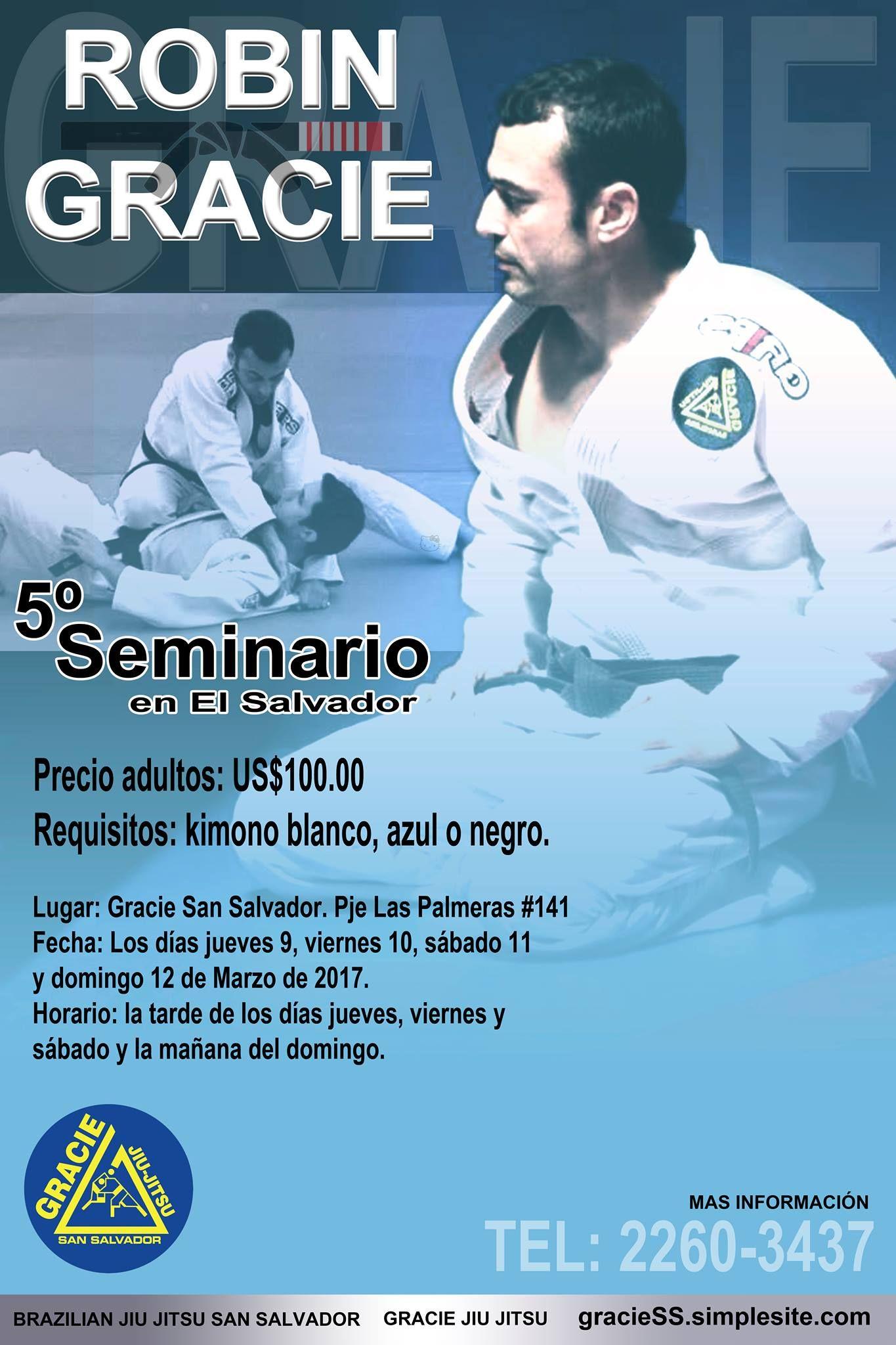 Seminario de Robin Gracie en El Salvador, 2017