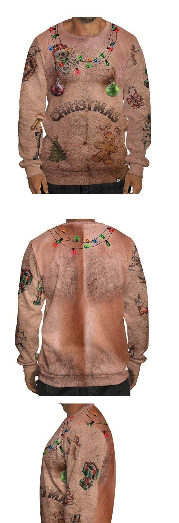 Bare Chest Ugly Christmas Sweater Pinterest Ugliest Christmas