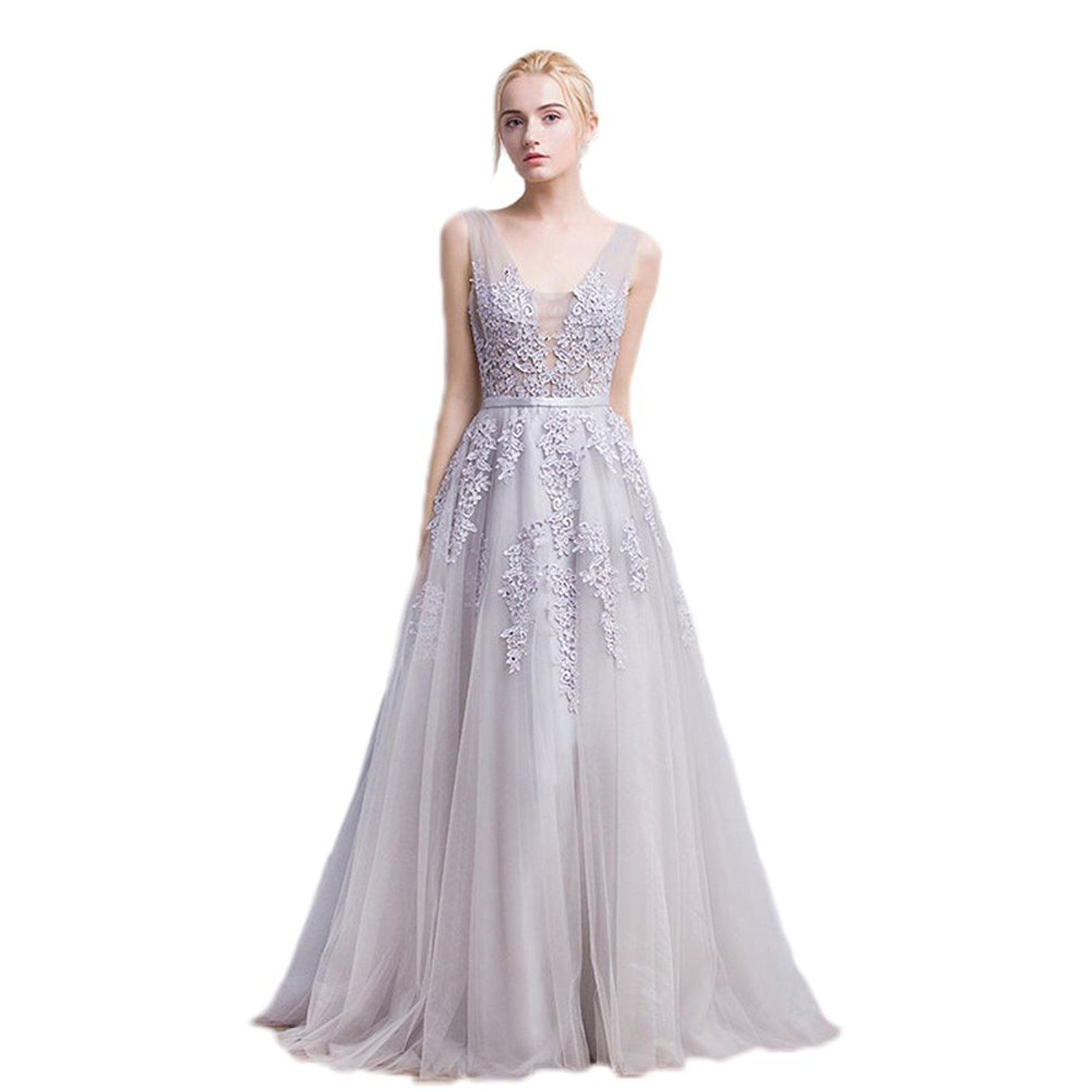 2ccb6b374f3 Vimans Women s 2016 Elegant Long Sequined Lace Prom Dress Evening Gowns
