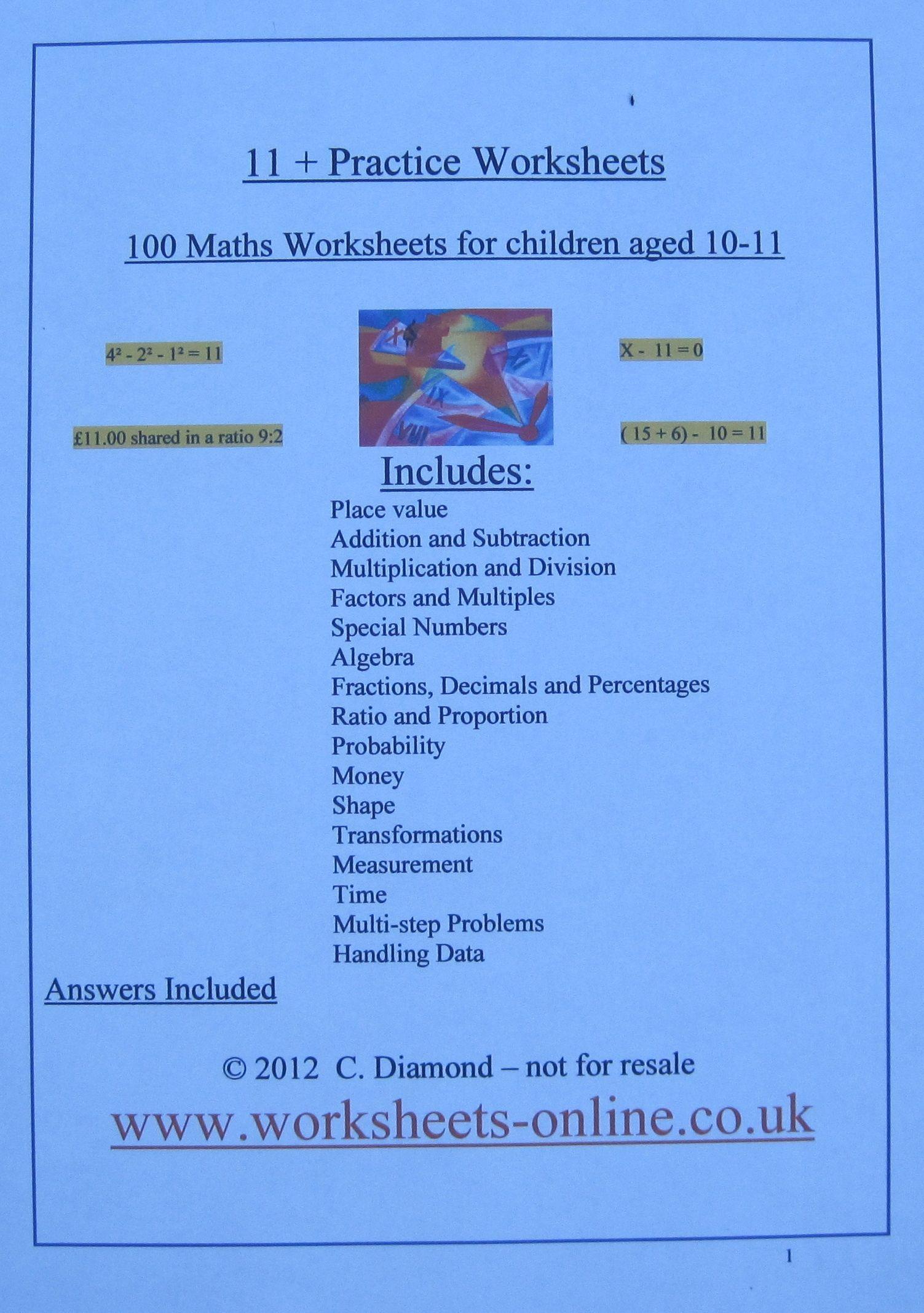 Divition Math Worksheet Ratios