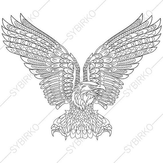 Coloring Pages For Adults Eagle Bird Independence Day 4th Of
