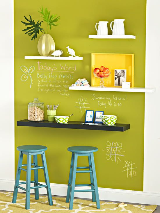 Easy One-Wall Makeover Ideas | Pinterest | Wall spaces, Chalkboards ...