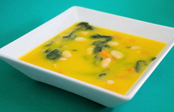 Portuguese Vegetable Soup with Spinach #spinachsoup