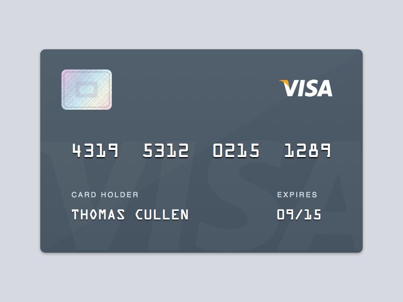 Visa Card Visa Card Prepaid Debit Cards Credit Card