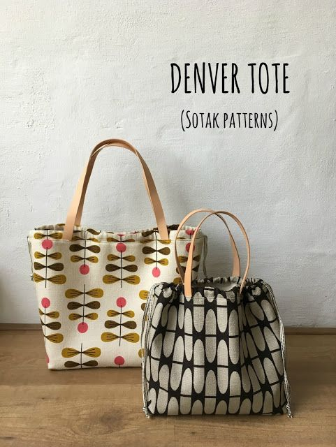 Denver Tote in two sizes (new pdf pattern) | DIY and Craft | Telas ...