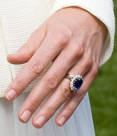 Sapphire and Diamond Engagement Ring Kate Middleton Style