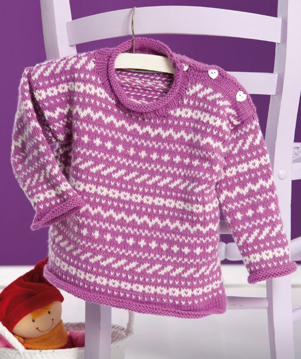 Baby Fair Isle Sweater pattern | Knits for Children | Pinterest ...