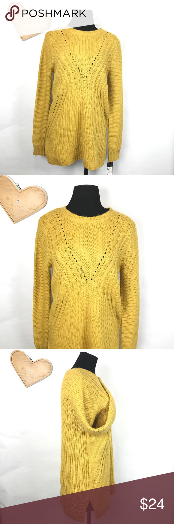 Mossimo thick knot tunic sweater Nice dark yellow knitted sweater ...
