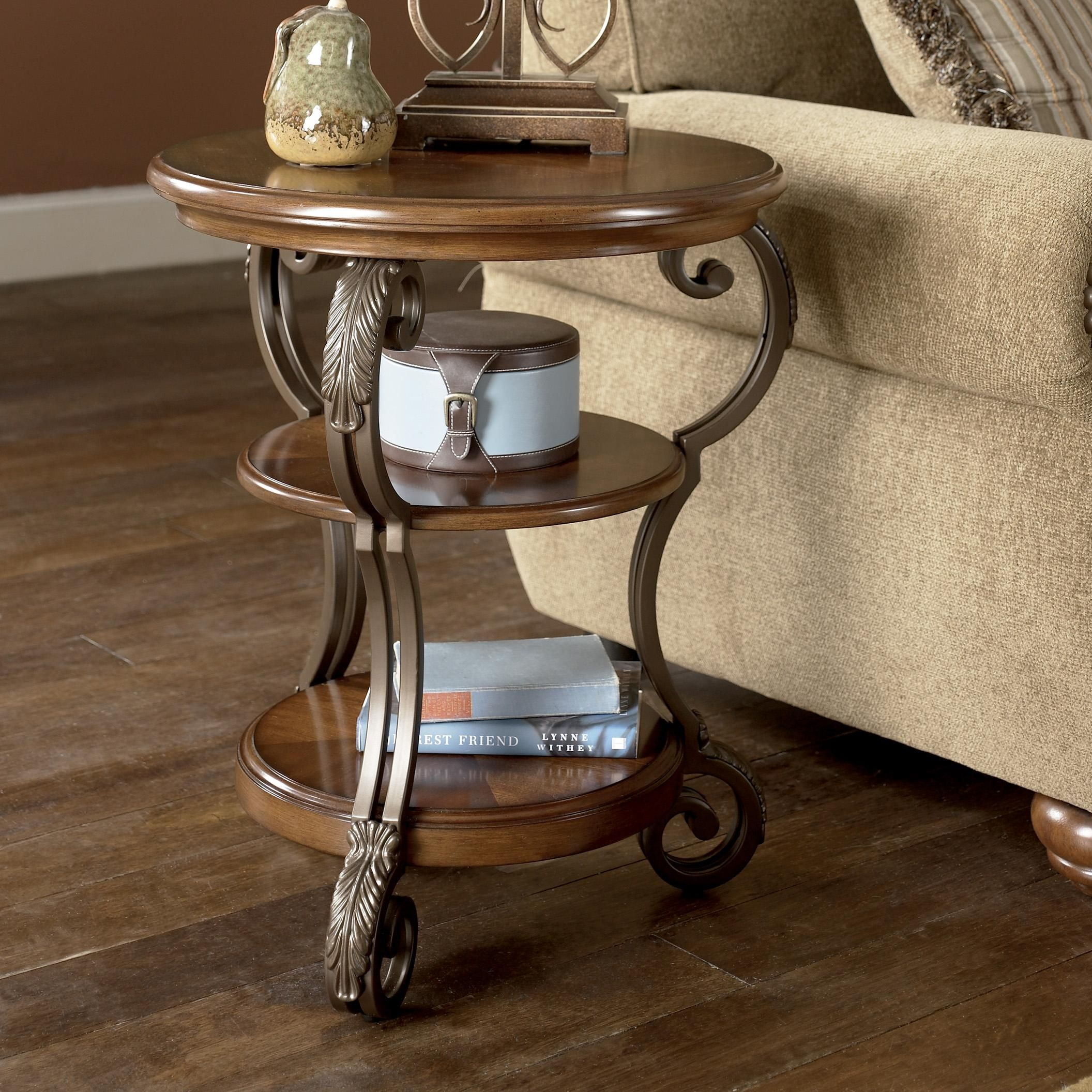 Best Nestor Round Chairside End Table By Ashley Signature 400 x 300