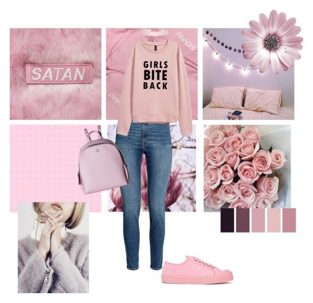 """""""Glam Sarcasm"""" by hyunn-a ❤ liked on Polyvore featuring beauty, Novesta, MCM and Humble Chic"""