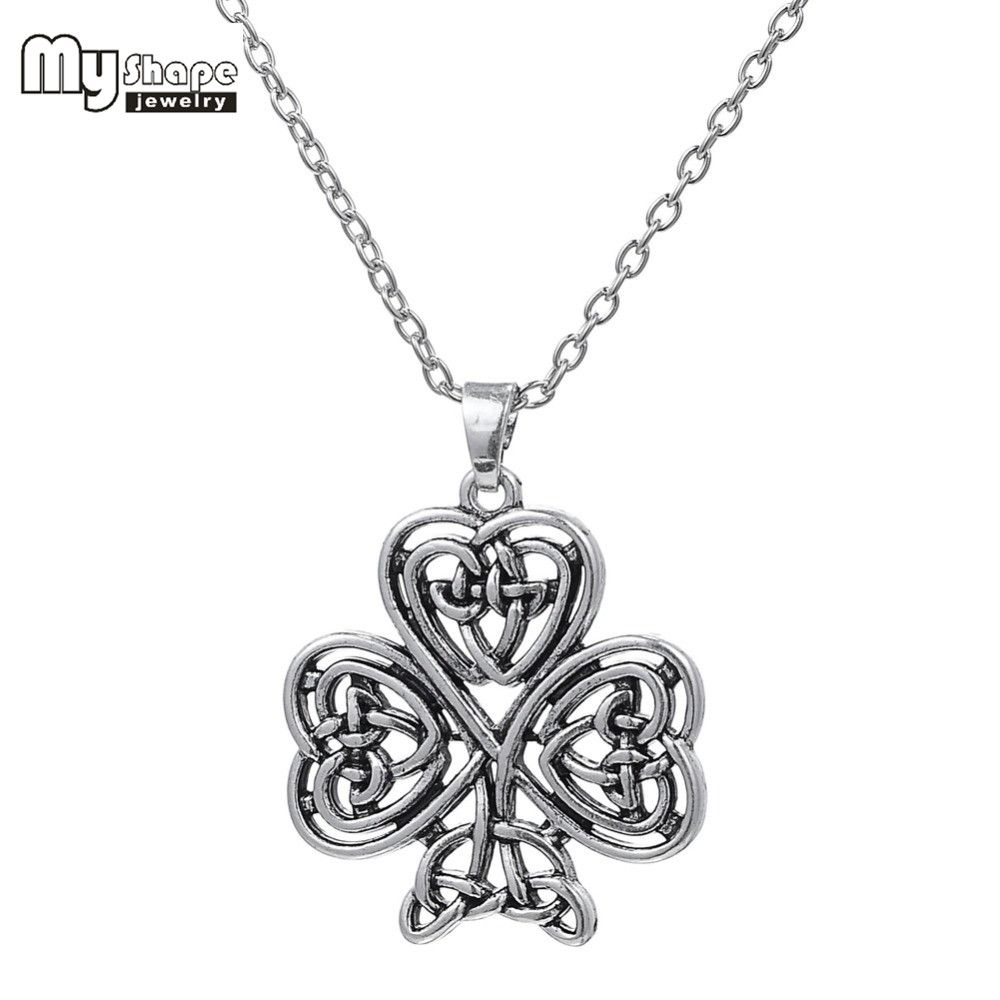 Ancient Amulet Viking Irish Celtic Knot Pendant Lucky Necklace for Men and Women