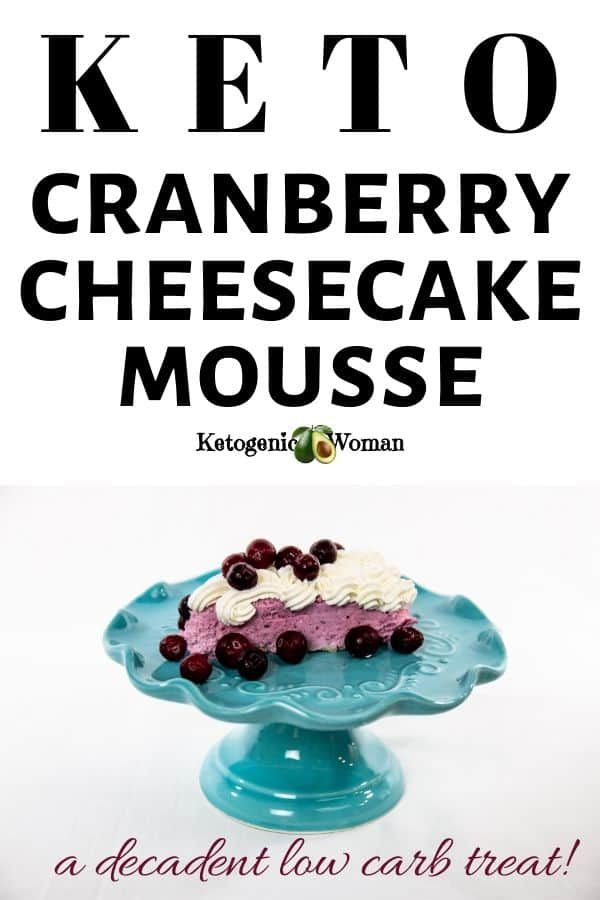 Keto Cranberry Mousse Cheesecake Dessert