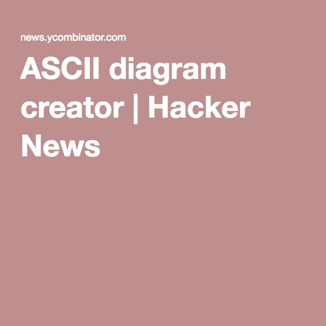 Ascii diagram creator hacker news ascii art diagrams ascii diagram creator hacker news ccuart Choice Image