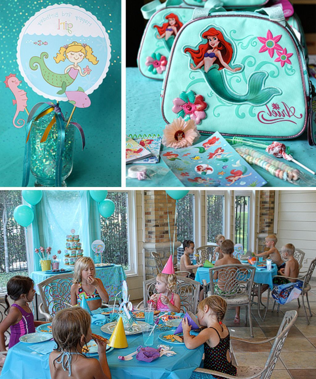 Little mermaid birthday party decoration ideas mermaid for Ariel decoration party