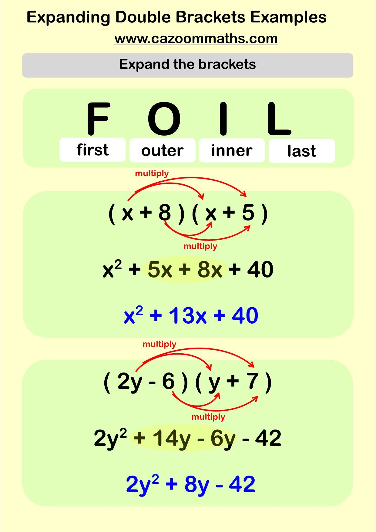 Factorising Worksheets With Answers | Mathe und Schule
