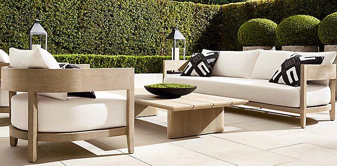 Balmain Teak Furniture Collection Weathered Grey Teak Rh Outdoor In 2019 Restoration Hardware Outdoor Furniture Outdoor Furniture Sofa Contemporary Outdoor Furniture