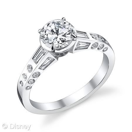 Disney princessthemed engagement and wedding rings This one is