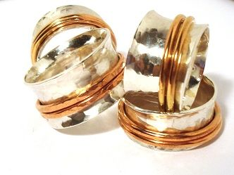 spinner rings---has sizing guide calculation on 13mm and 10mm thick bands