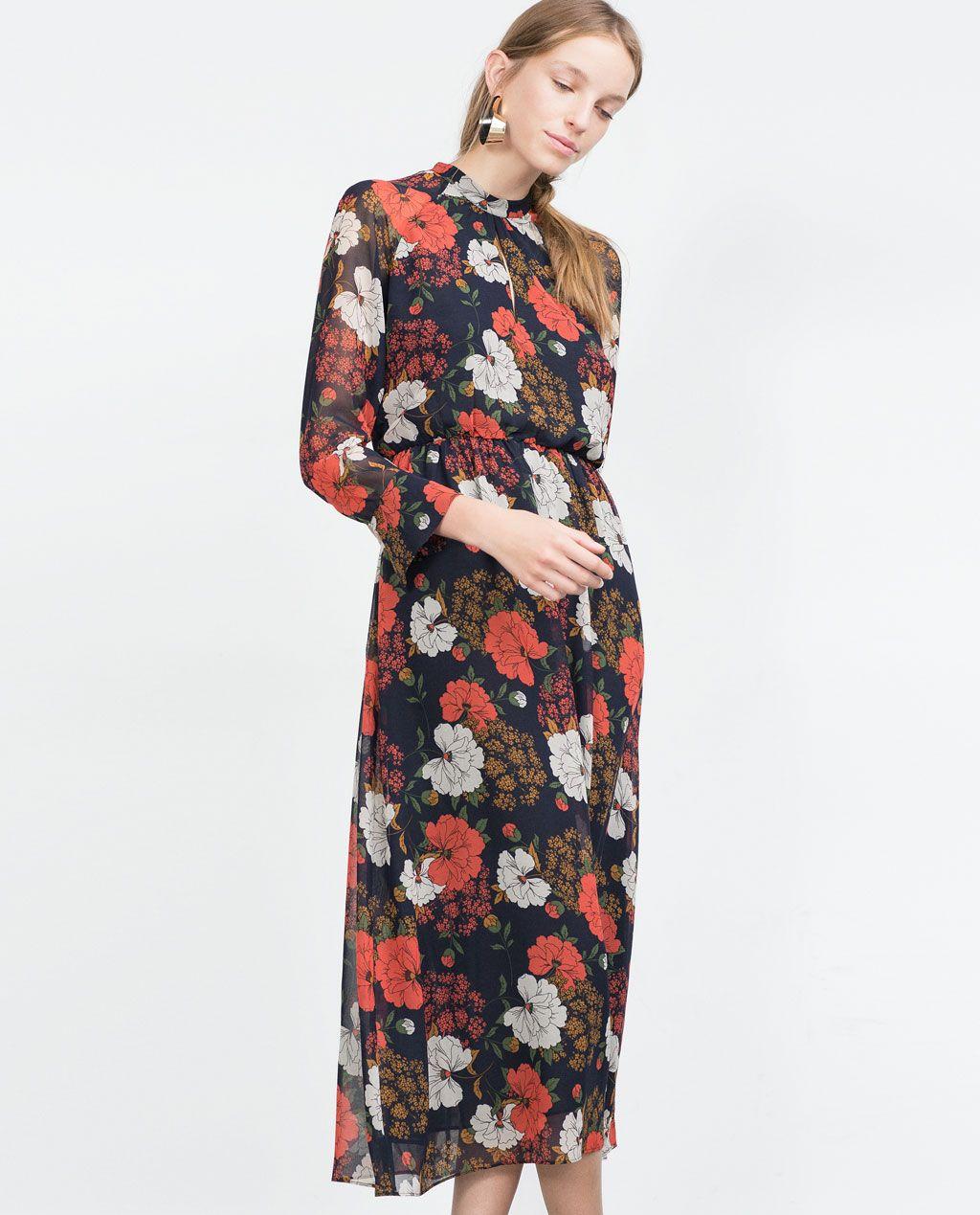 9f45ccb6dd8 LONG PRINTED DRESS-Maxi-Dresses-WOMAN | ZARA United States ...