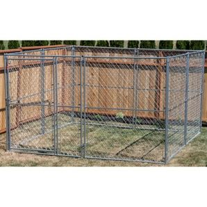 10 X 10 X 6 Modular Chain Link Pet Kennel Pet Kennels Puppy School Pets