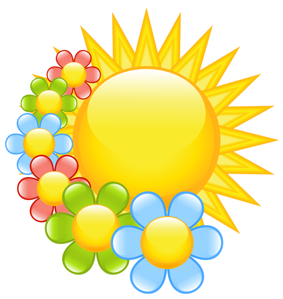 spring sun with flowers clipart clipart pinterest flowers rh pinterest com