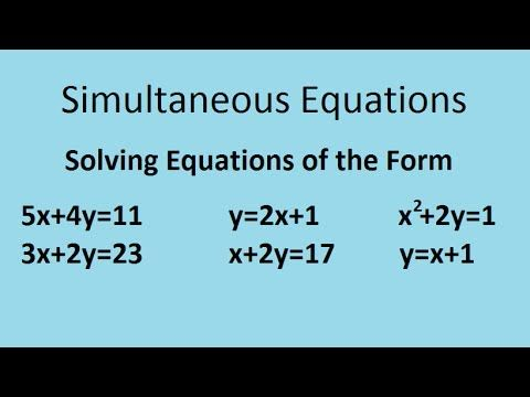 Simultaneous equations - the complete maths guide   mathematics ...
