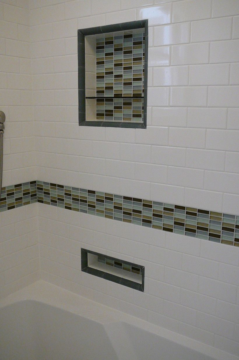 ... Glass Accent Tile In Shower Stunning Bathroom How To Make Your Own Design  Ideas 1 Simple ...