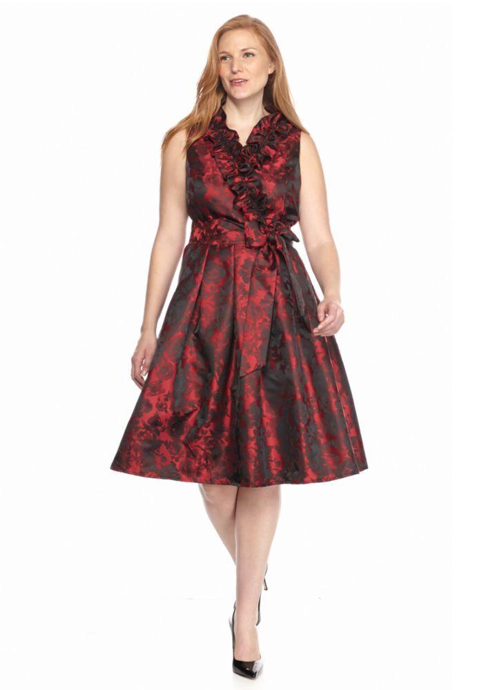 J Howard Plus Size Ruffle Surplice Dress - Belk.com ...