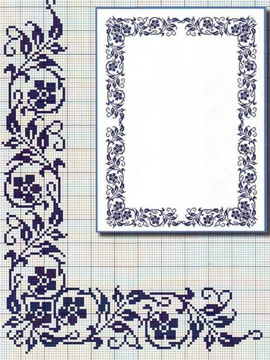 CENEFA ESQUINA | Páginas para colorear | Pinterest | Punto de cruz ...