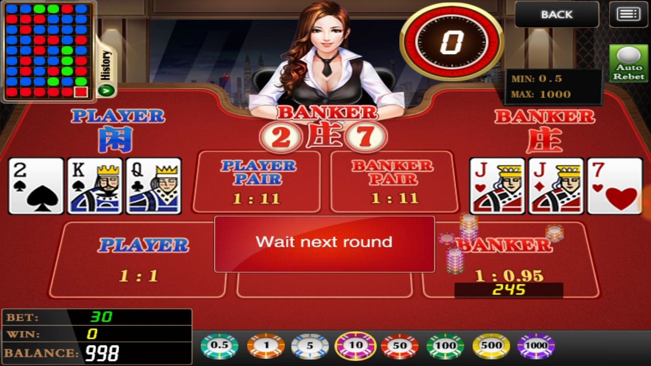 Play classic table games like baccarat on your mobile