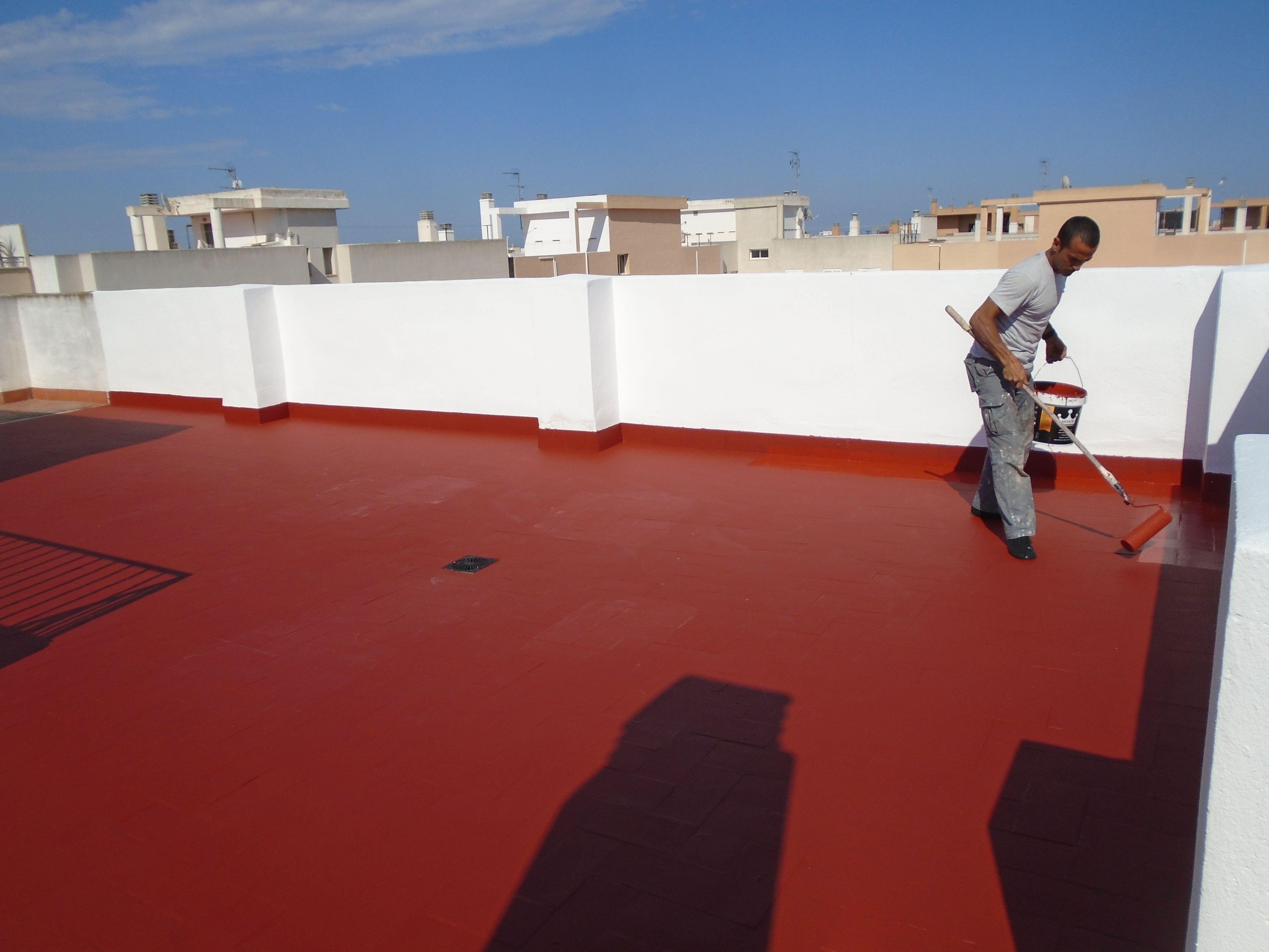 Impermeabilizacion De Terrazas En Valencia Mediante Trabajos Verticales Www Solvertvalencia Com En 2020 Terrazas Hidrofugante Filtracion De Agua
