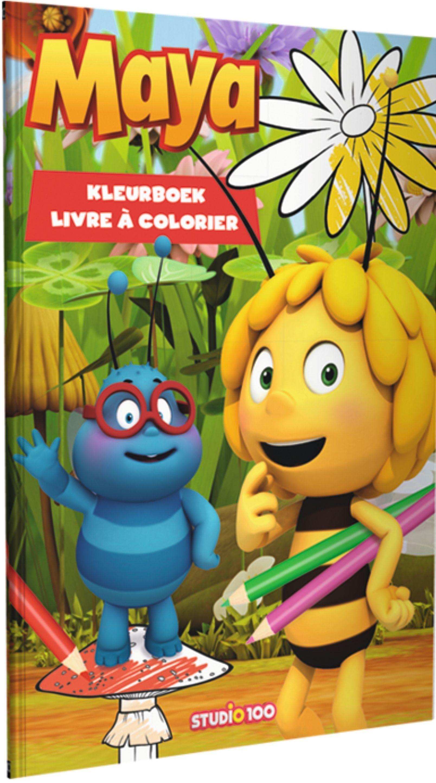 Laat Je Creativiteit Helemaal Vrij Lop Met Het Kleurboek Van Maya De Bij Dit Kleurboek Bevat Kleurplaten Van Maya De Bij En Haar Vrien Kleurboek Maya Kleuren