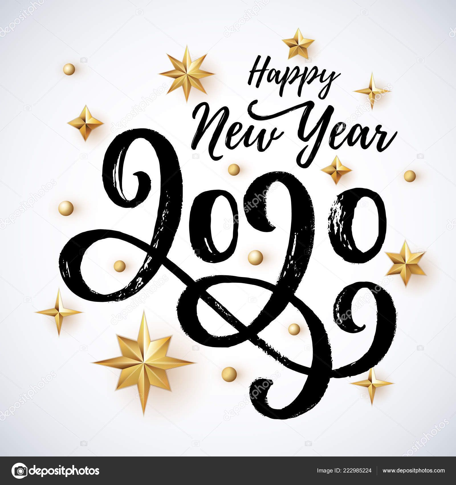 Download 2020 hand written lettering with golden