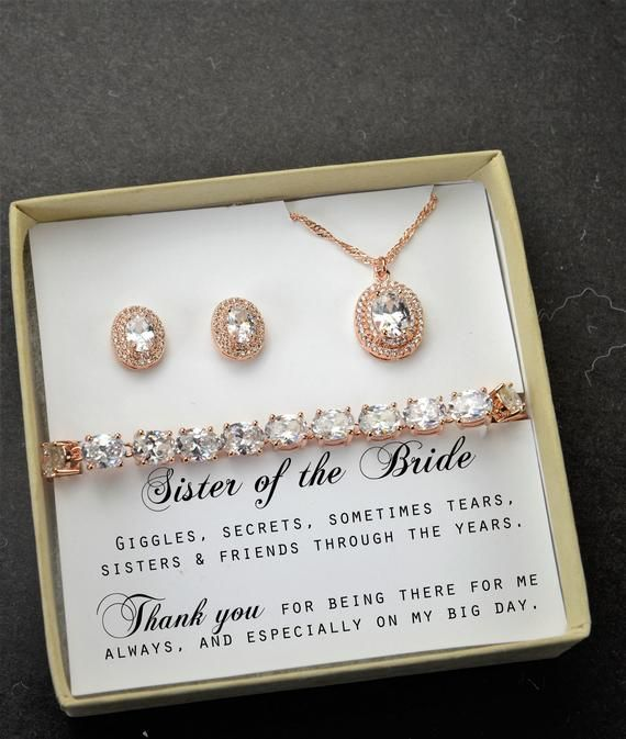 Sister Wedding Giftsister Of The Bride Gift Necklace Maid Of Etsy In 2020 Sister Wedding Gift Bridal Gifts Bride Gifts
