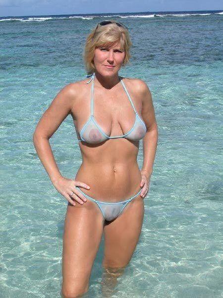 Mature sheer bikini