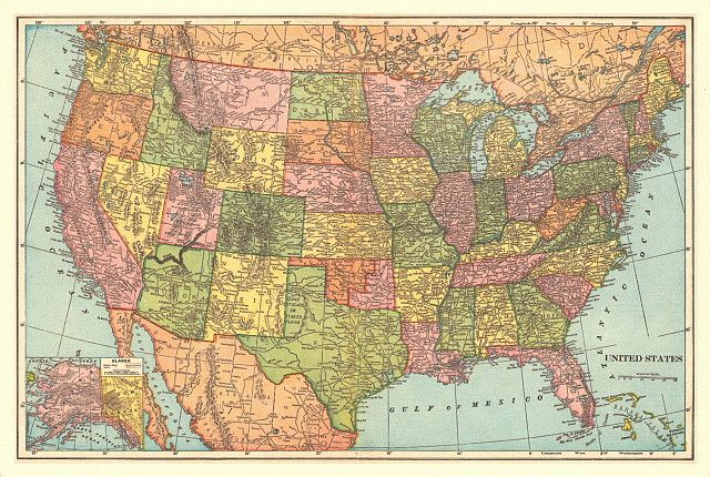 Vintage Maps 1 United States Vintage Maps And Map Globe