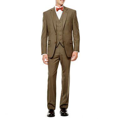 c8879d2c78c3e9 jcpenney.com   IZOD® Light Brown Sharkskin Suit Separates – Classic Fit